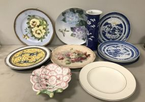 Hand Painted Collectible Plates