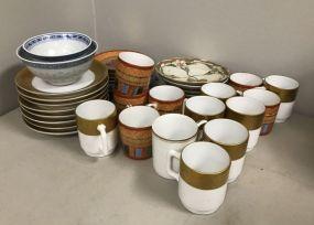 Porcelain Demi Tasse Saucers and Cups