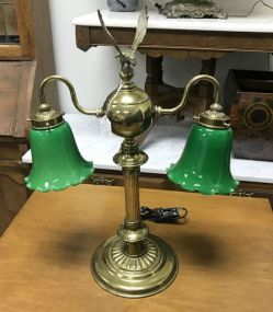 Vintage Brass Eagle Desk Lamp