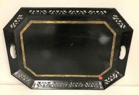 English Black Shape Tole Tray
