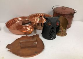 Cooking Molds, Tin Bucket, Owl, Pig