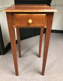 Primitive Style Single Drawer Side Table