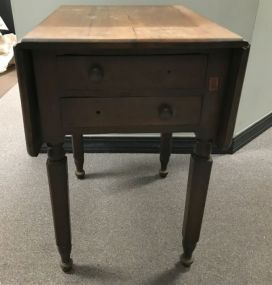 Antique Drop Leaf Accent Table