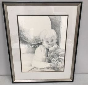 R Scott Coleman Pencil Drawing of Boy