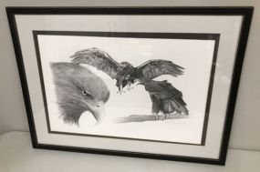 Eagle Drawing Print Artist Signed