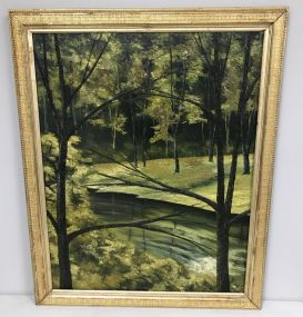Oil Painting of Landscape Woods