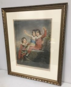 Artist Signed Print of Children by Elizabeth Gullard