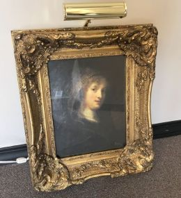 Ornate Gold Gilt Framed Portrait Print