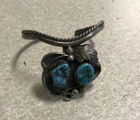 Southwest Style Turquoise  Cuff Bracelet