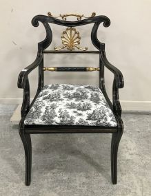 New French Design Black Arm Chair