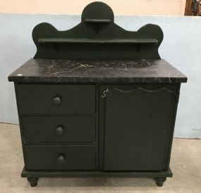 Modern Green Painted Server