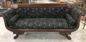 American Empire Claw Foot Sofa