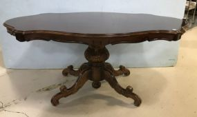 Vintage French Style Turtle Top Pedestal Table