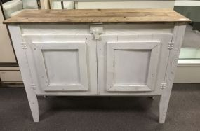 Primitive Style Painted Console Table