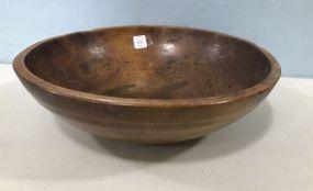Hand Carved Wood Fruit Bowl
