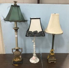 Three Decorative Pole Lamps