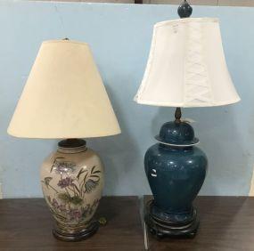 Two Ceramic Decorative Lamps