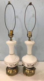 Pair of Frosted Table lamps