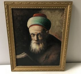 Framed Oil Painting of Man