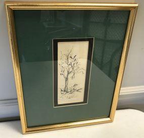 Framed Pencil of Tree