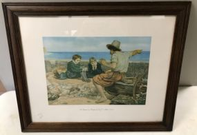 The Boyhood of Raleigh Print by Sir J. E. Millais PRA.