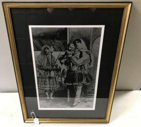 Reflective Portrait Print of Family