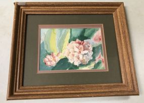 Watercolor of Flower by E. Haney