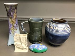 Group of Hand Made Pottery and Porcelain