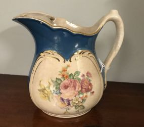 Hand Painted Porcelain Floral Pitcher