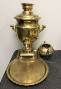 Antique Brass and Copper Samover