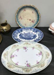 Four Porcelain Platter and Plates