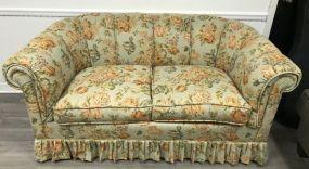 Upholstered Two Cushion Settee