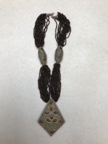 Beaded Necklace with Pendent