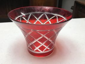 FTD Red Glass Bowl
