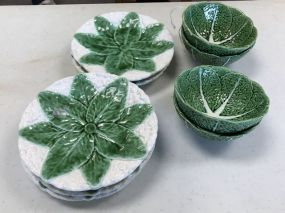 Faiancas Belo Cabbage Plates and Bowl