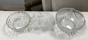 Three Clear Glass Bowls