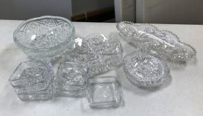 Group of Pressed Glass and Cut Glass Pieces