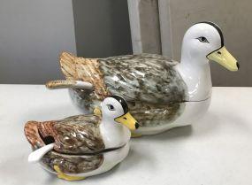 Faiancas Belo Portugal Ceramic Duck Tureens