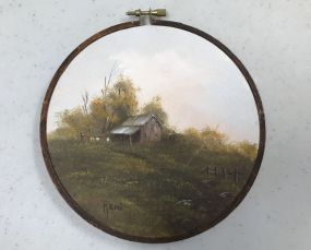 Oil Painting of Cabin by Reni