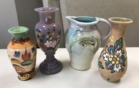 Decorative Pottery and Art Glass Vase