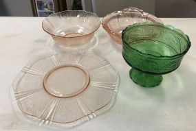 Depression Glass and Compote