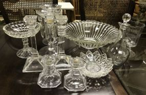 Group of Clear Glass Decor