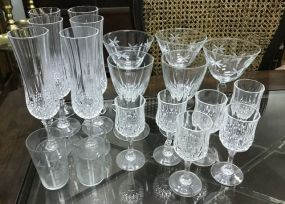 Group of Clear Glass Stemware