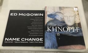Ed McGowin Name Change and Fernand Khnopff Books