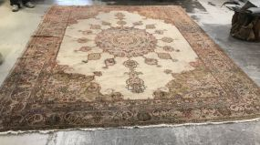 Large Hand Made Wool Area Rug