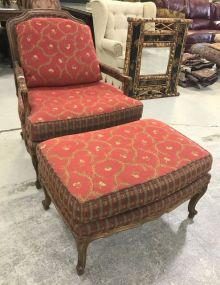 Sherrill French Style Arm Chair and Ottoman