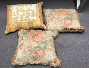 Three Decorative Throw Pillows