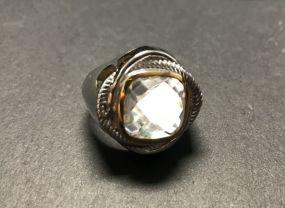 Men's Crystal 5.70 CTW Brass Ring