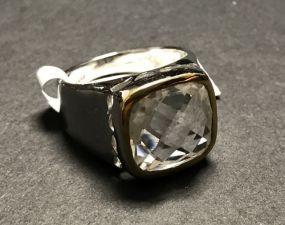 Brass Crystal 5.70 CTW Ring