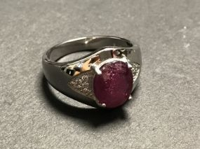 Woman's Ruby Pave Ring